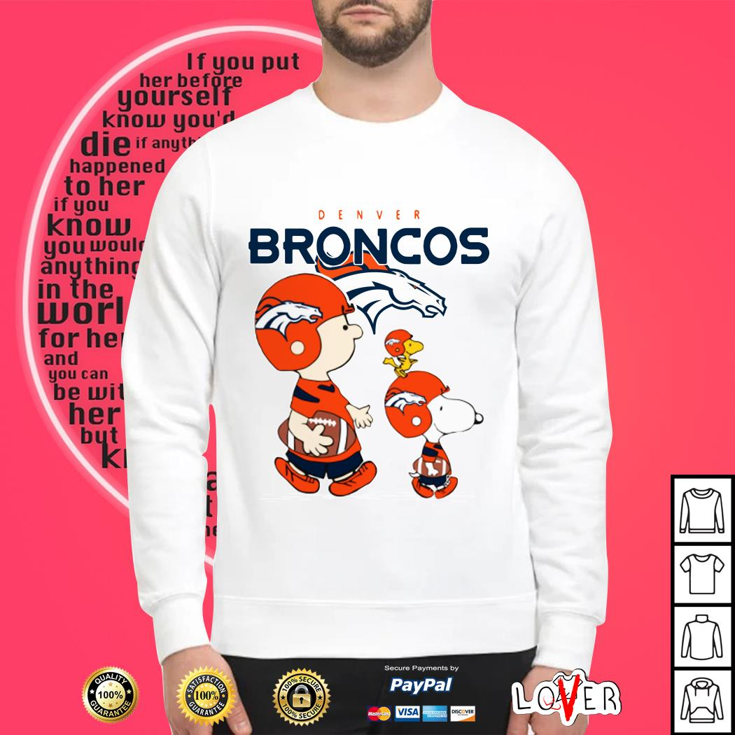 Snoopy and woodstock Denver Broncos Sweater