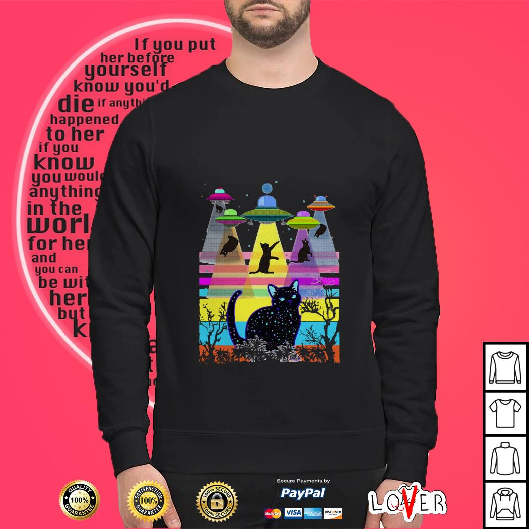 Storm area 51 they can't stop all of us cats Sweater