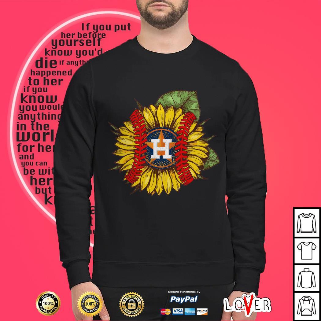 Sunflower baseball Houston Astros shirt