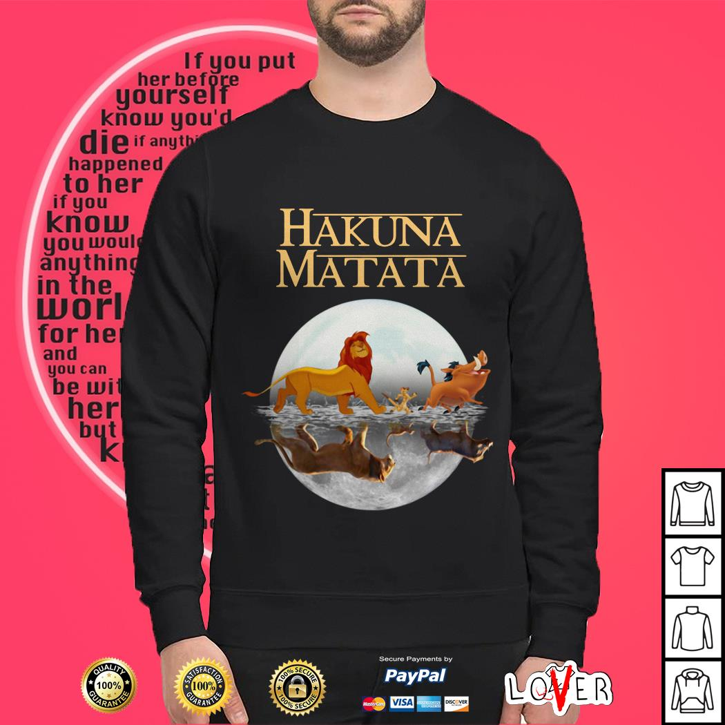 The Lion King Hakuna Matata water reflection mirror Sweater