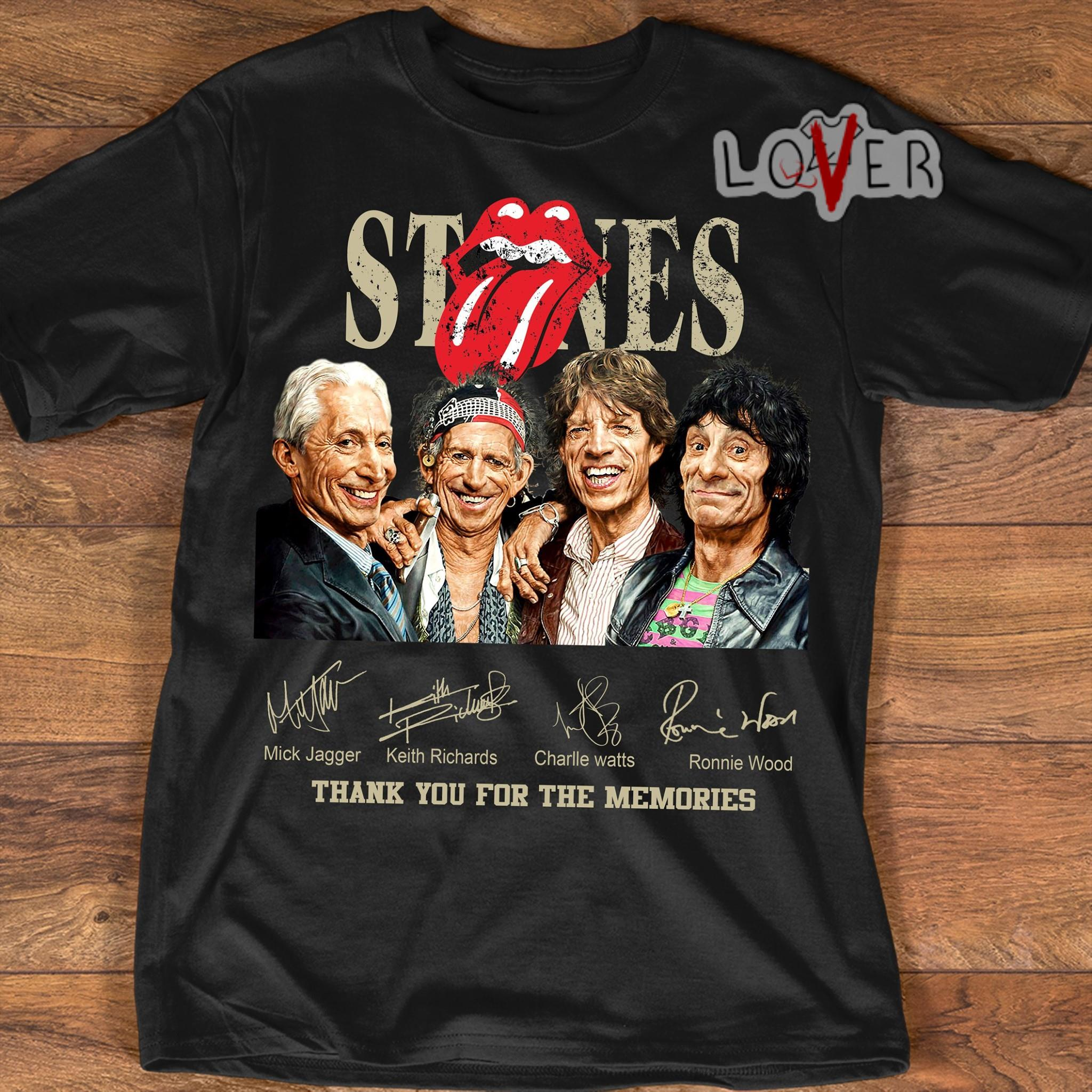 The Rolling Stones thank you for the memories signature shirt