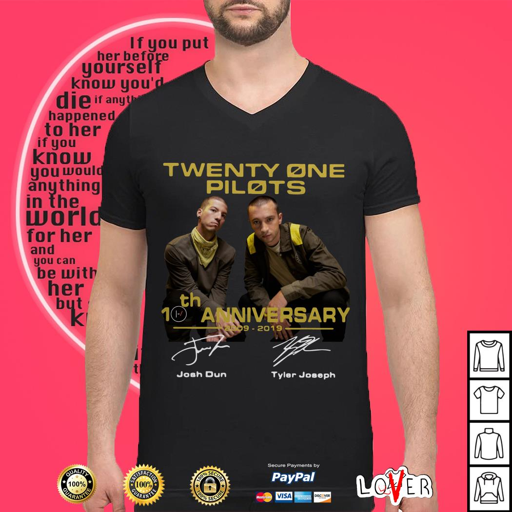 Twenty one pilots 10th anniversary shirt