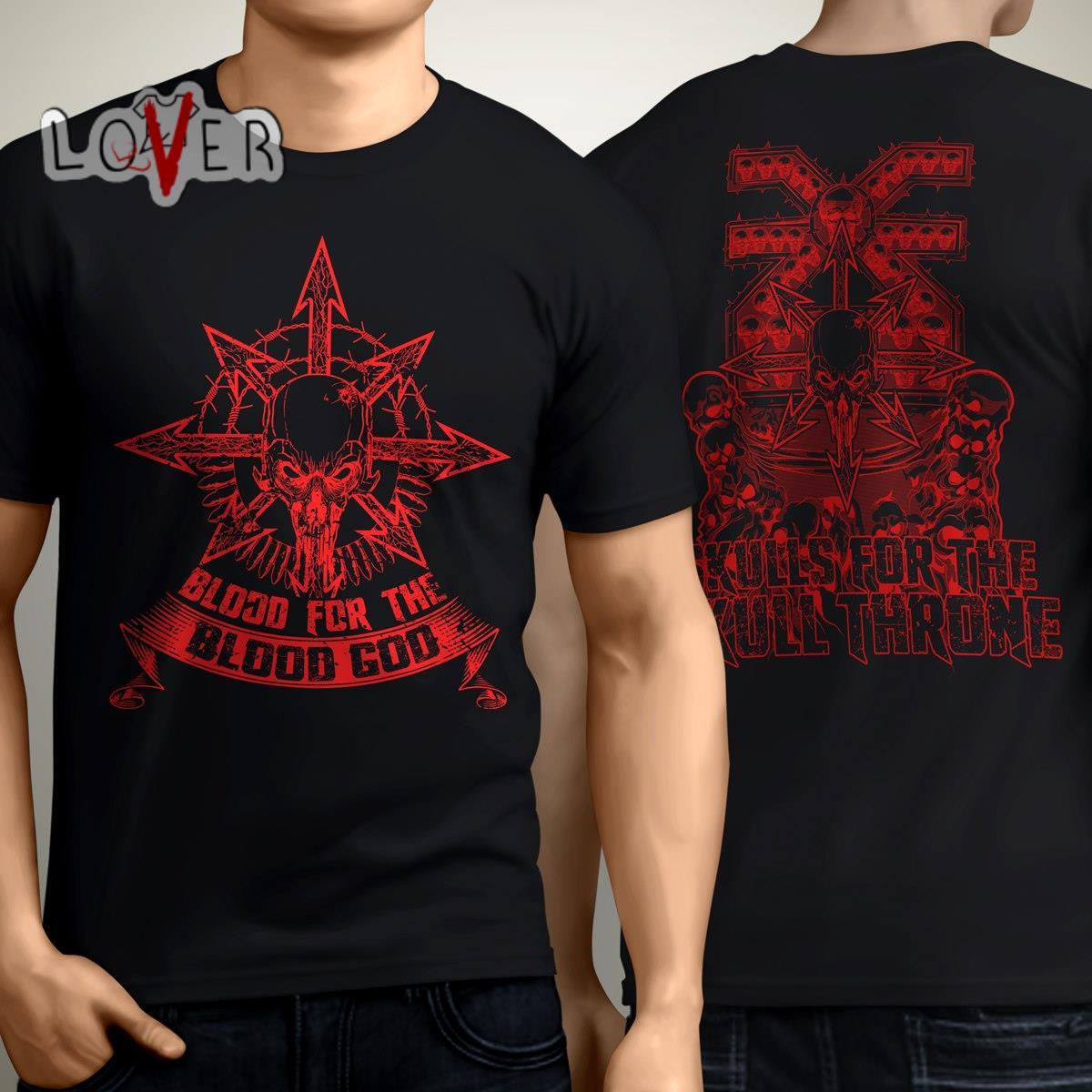 Warhammer Blood for the blood god skulls for the skull throne shirt