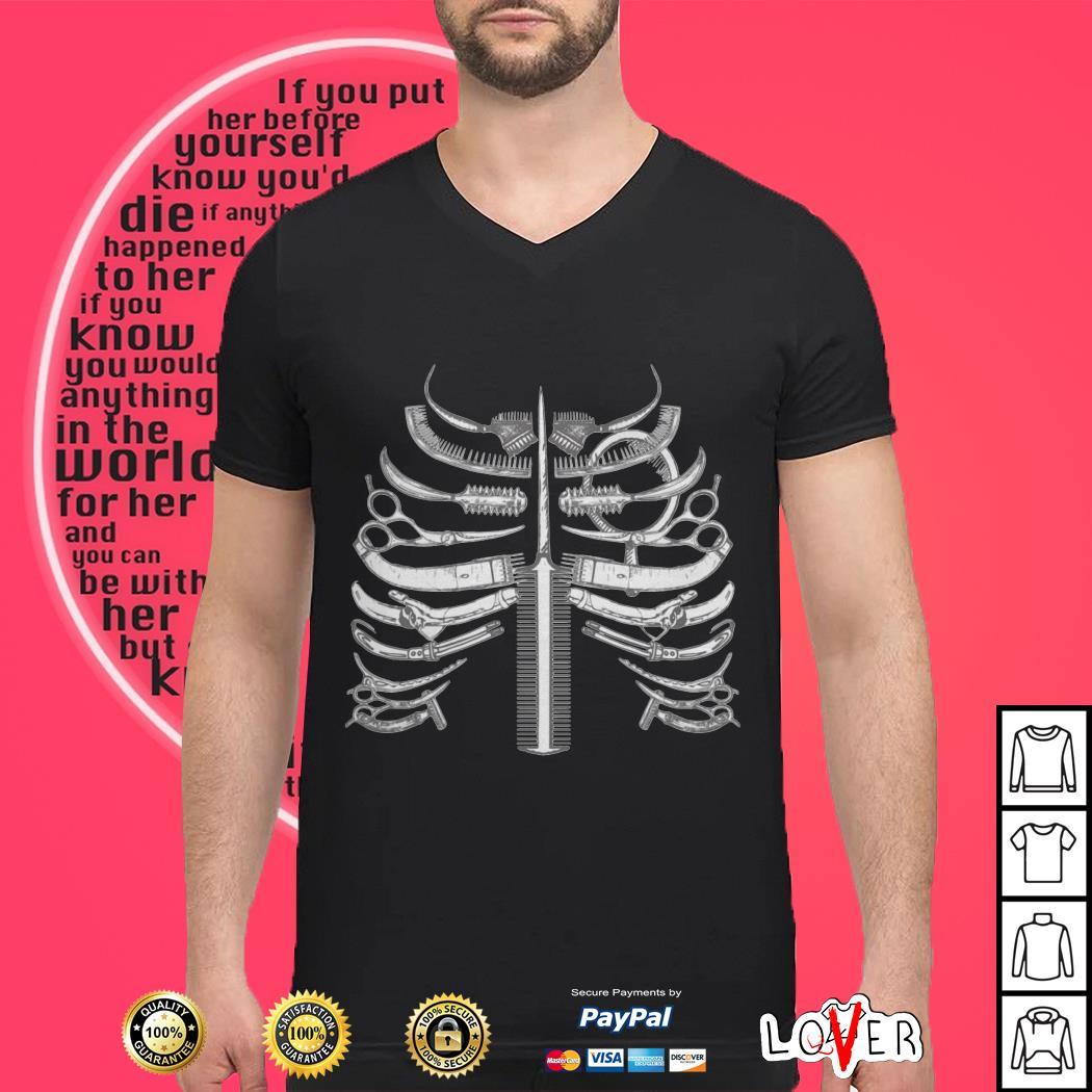Skeleton ribs bone hairstyle shirt, hoodie, sweater and v ...