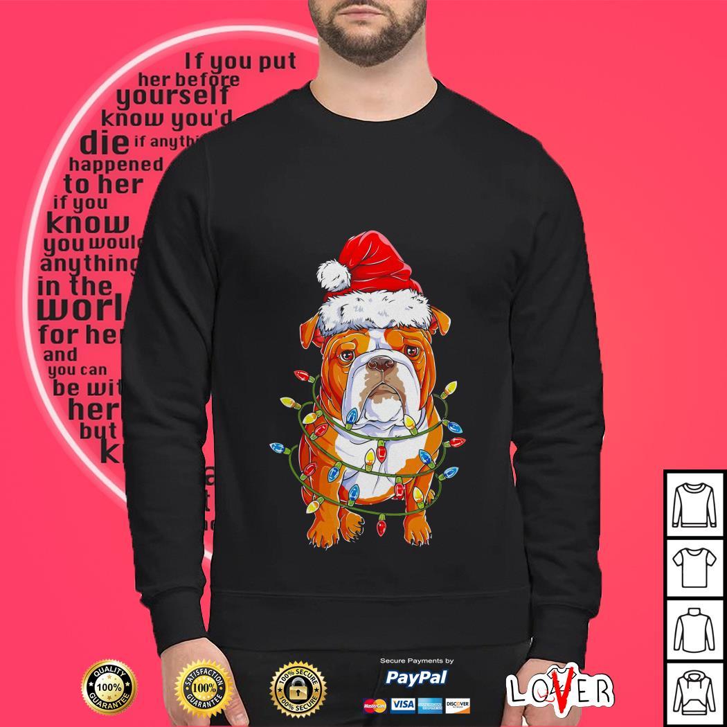Bulldog light Christmas shirt