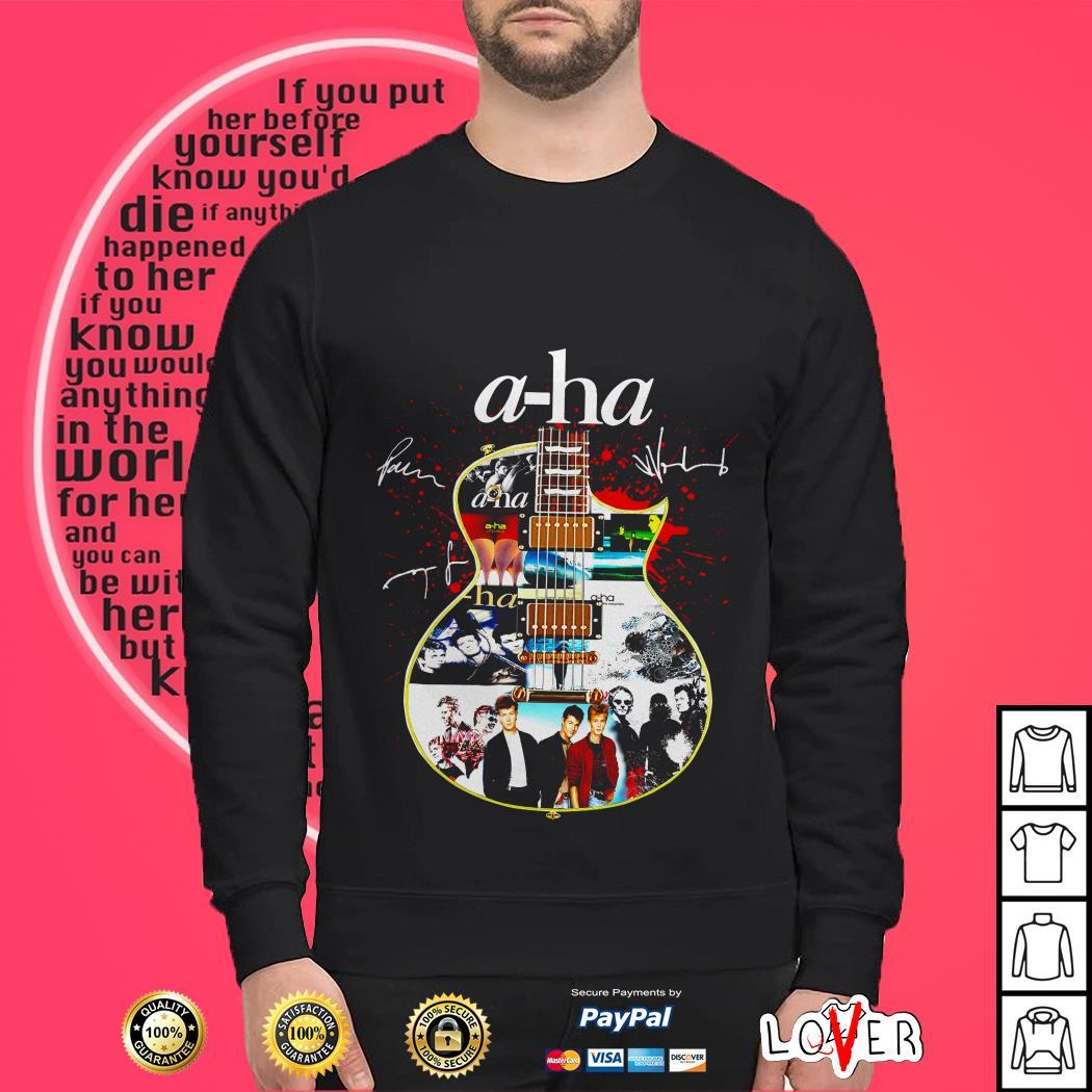 A-ha band guitar signature shirt