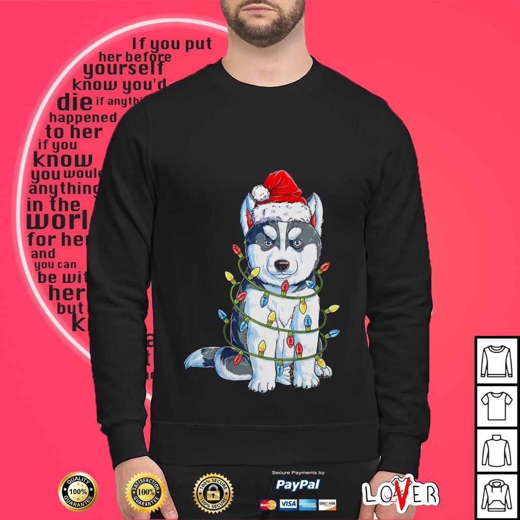 Siberian Husky Christmas shirt