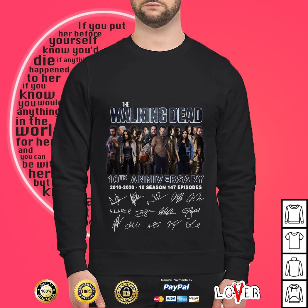 The Walking Dead 10th anniversary signatures shirt