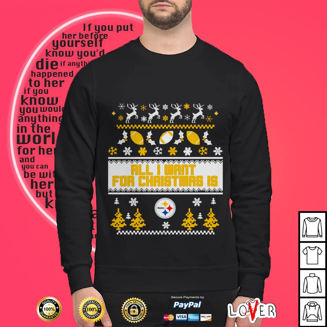 All I want for Christmas is Pittsburgh Steelers shirt