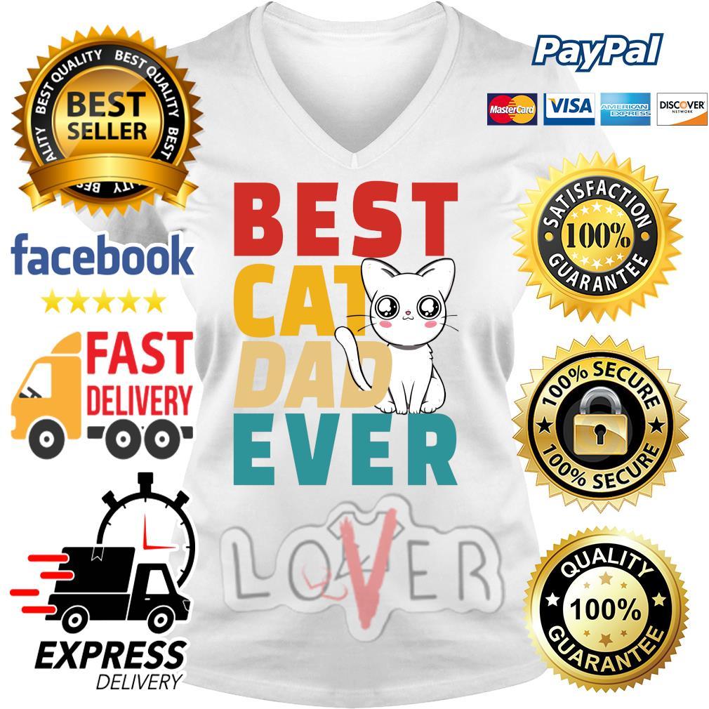 Best cat dad ever s V-neck t-shirt