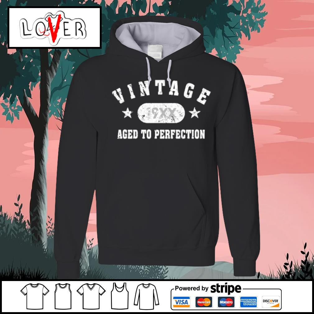 Black Vintage 19XX aged to perfection s Hoodie