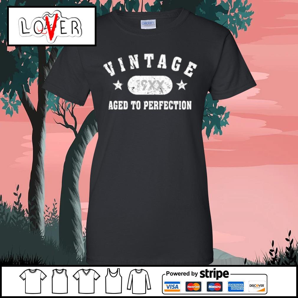 Black Vintage 19XX aged to perfection s Ladies tee