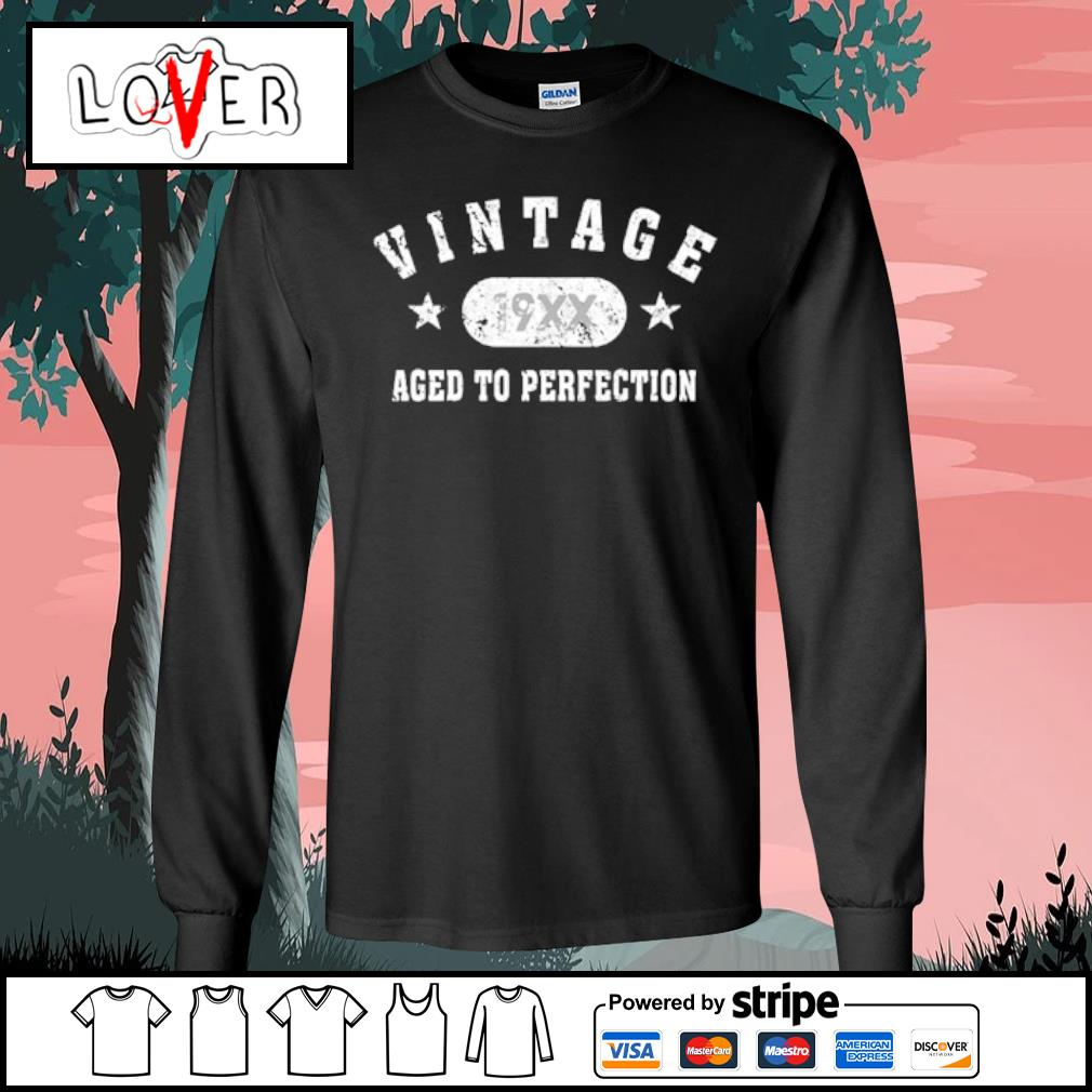 Black Vintage 19XX aged to perfection s Long Sleeve Tee
