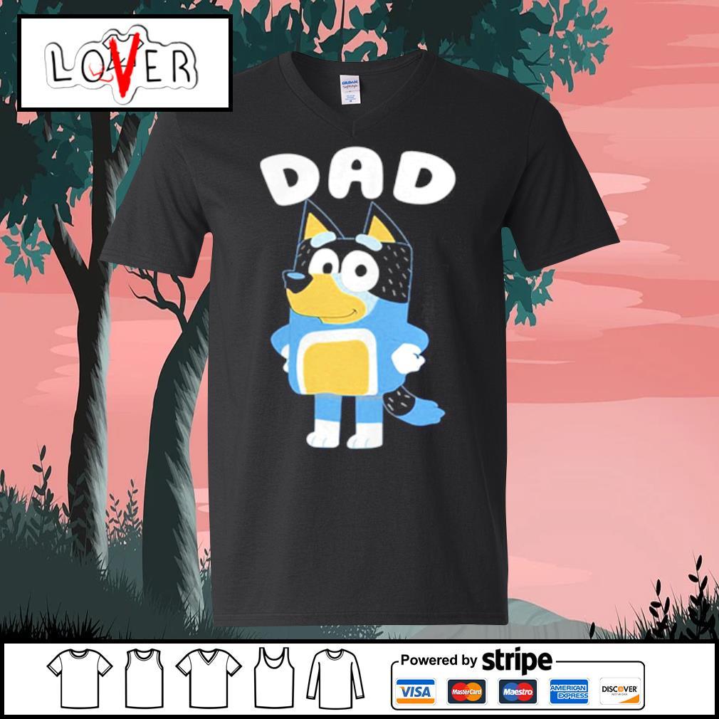 Bluey dog Dad s V-neck t-shirt