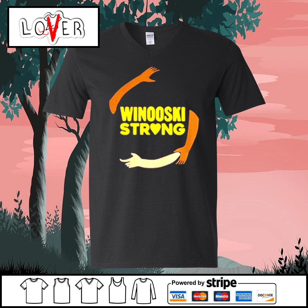 Official hand some Winooski Strong Shirt V-neck t-shirt