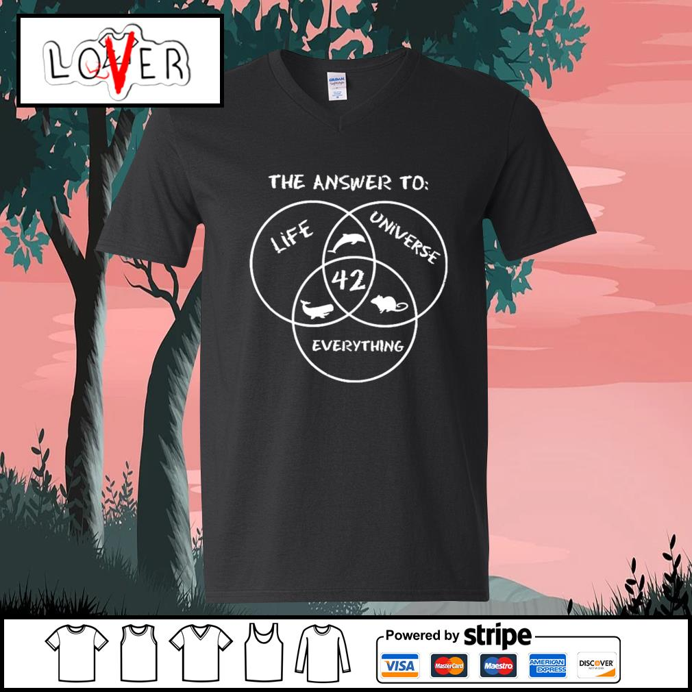 42 The answer to life universe everything s V-neck-T-shirt