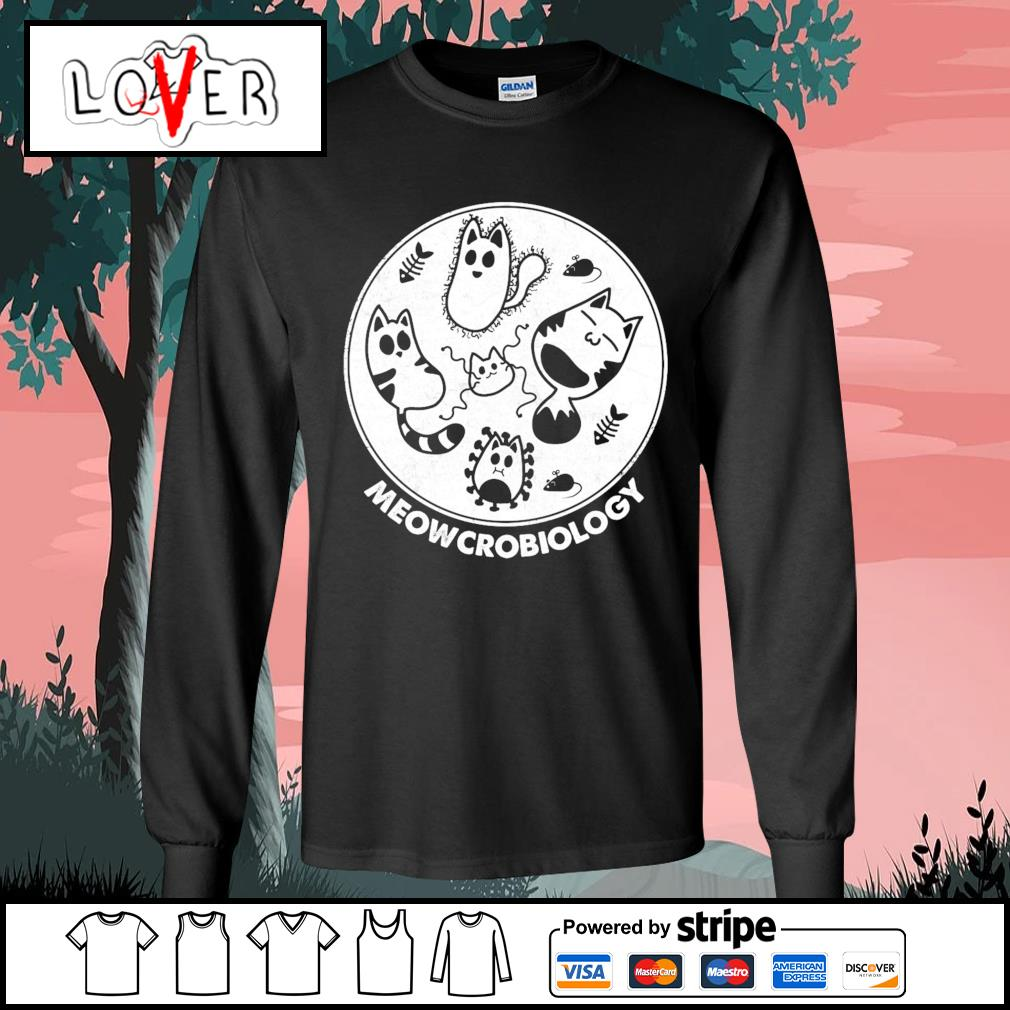 Cats Meowcrobiology Happy Halloween s Long-Sleeves-Tee