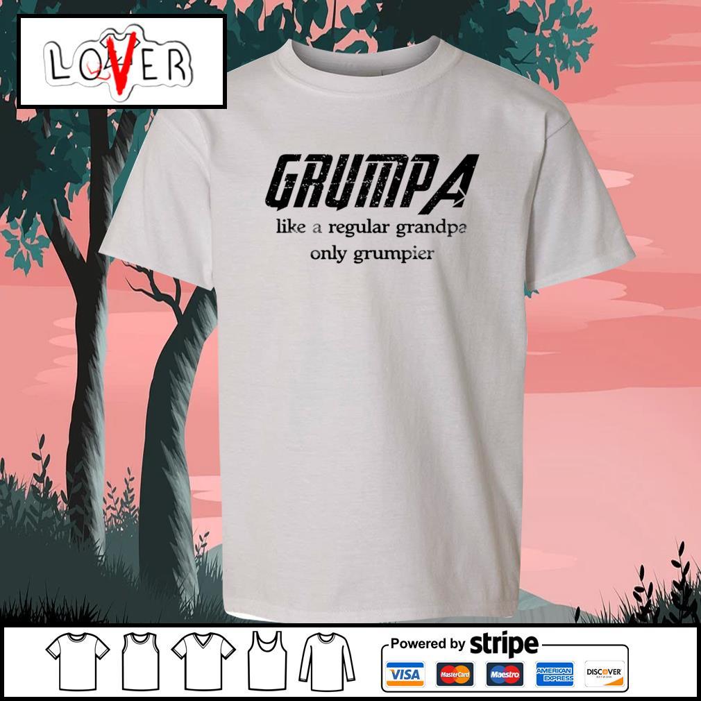 Grumpa like a regular grandpa only grumpier s Kid-T-shirt