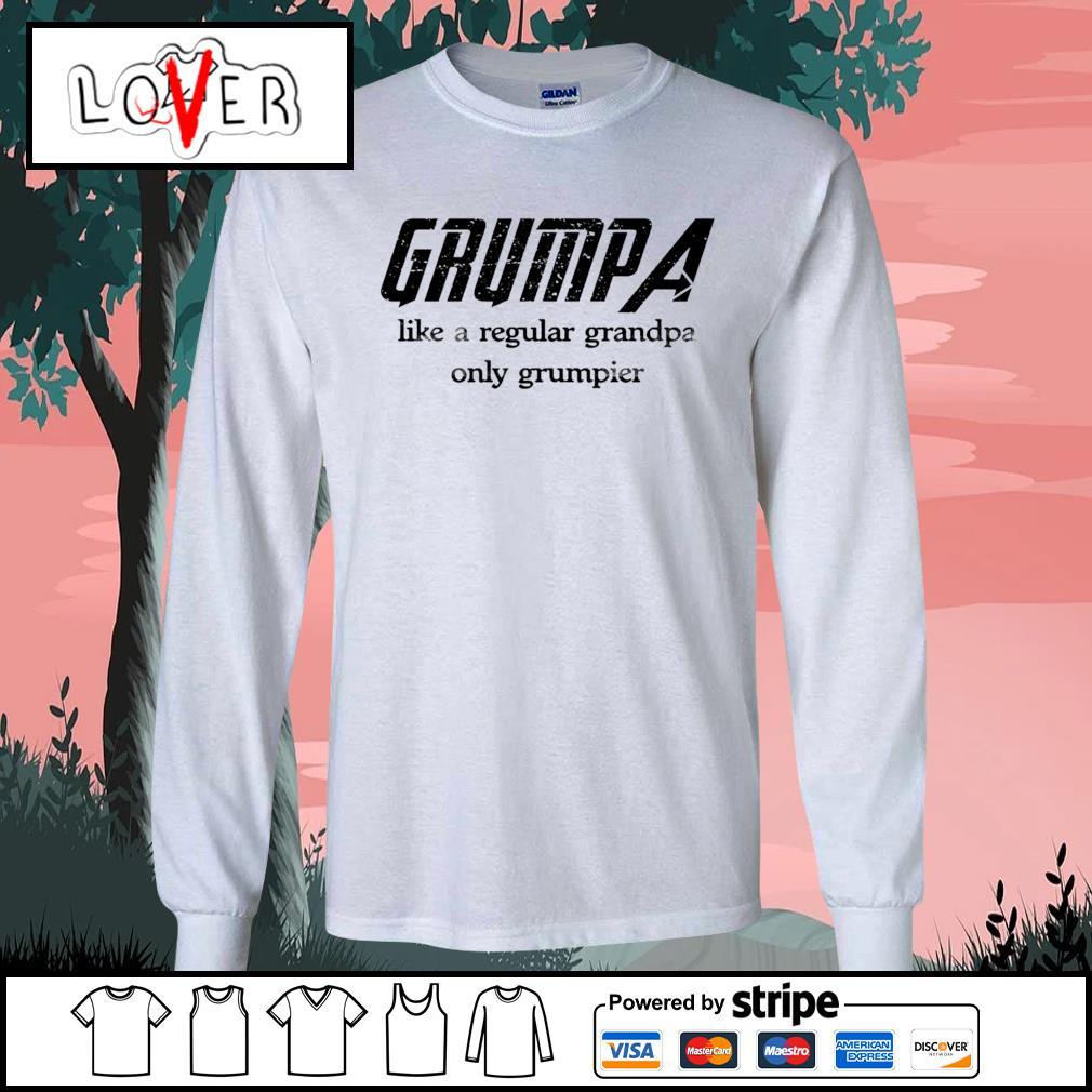 Grumpa like a regular grandpa only grumpier s Long-Sleeves-Tee