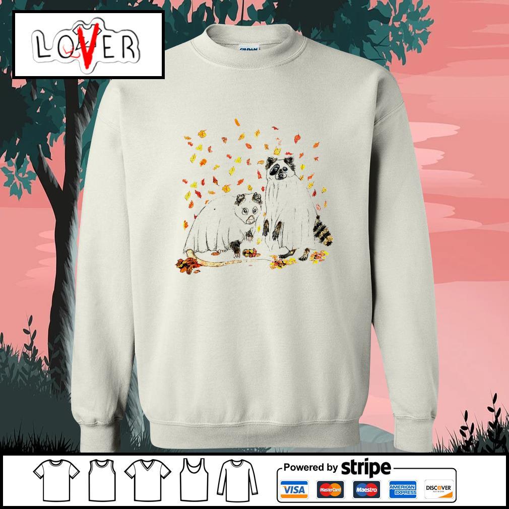 Raccoon Ghost Halloween s Sweater