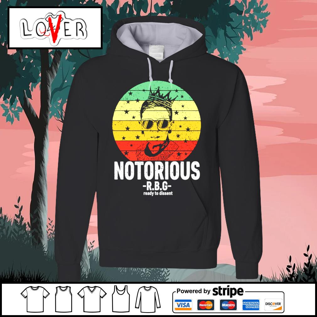 RBG Ruth Bader Ginsburg notorious ready to dissent vintage s Hoodie