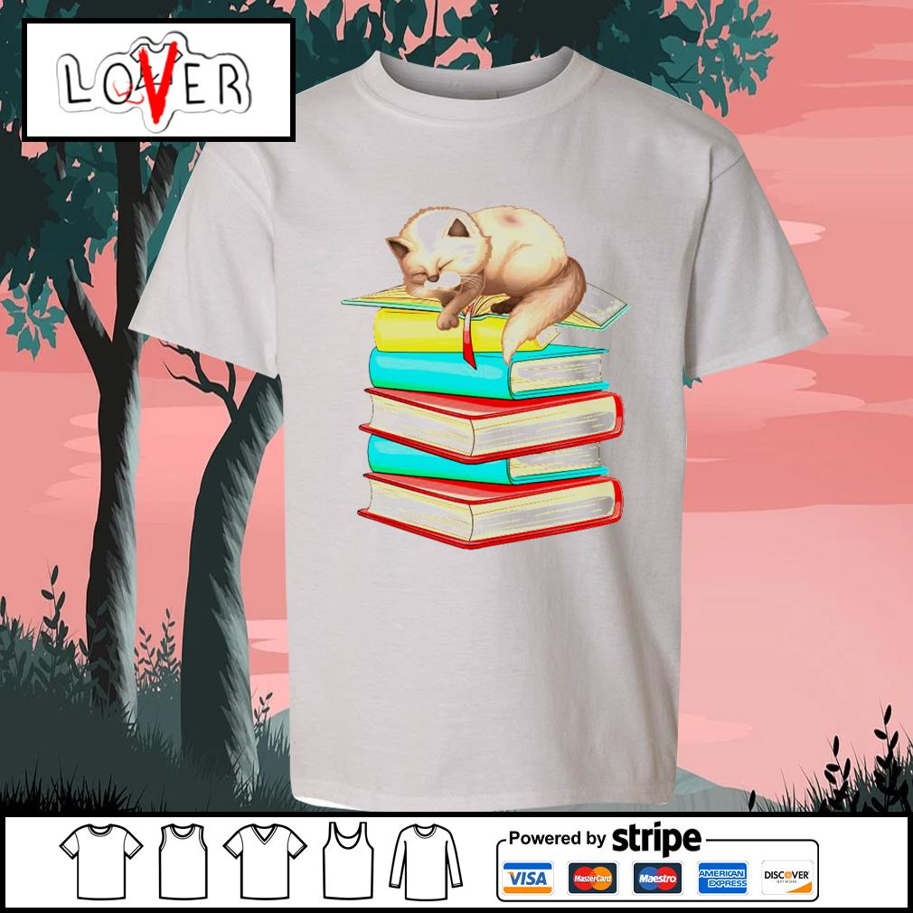Cats sleep with books s Kid-T-shirt