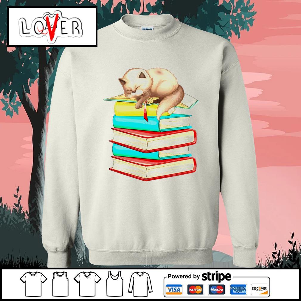 Cats sleep with books s Sweater