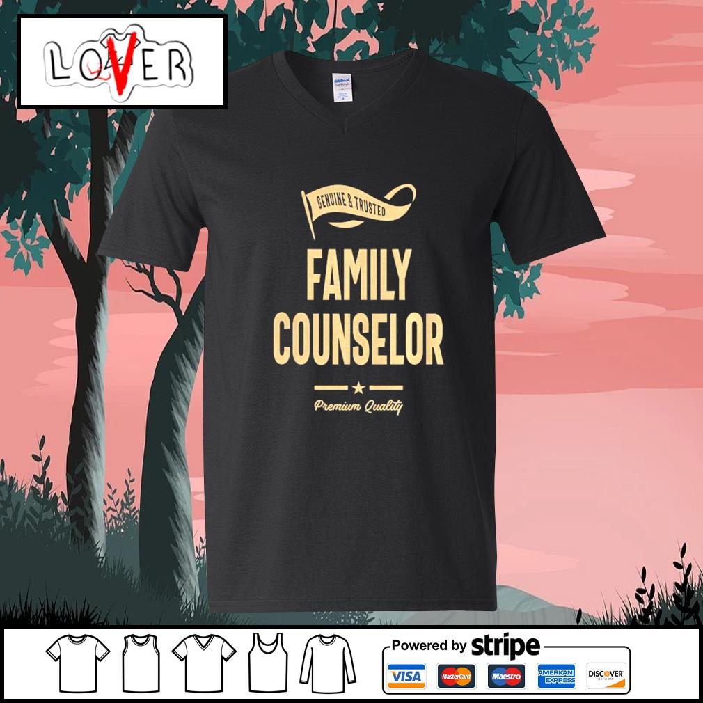 Genuine and trusted family counselor shirt premium quality s V-neck-T-shirt
