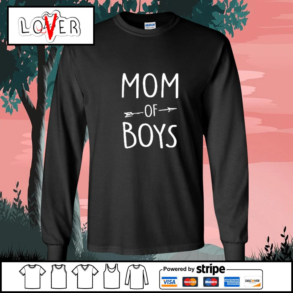Mom of boys s Long-Sleeves-Tee