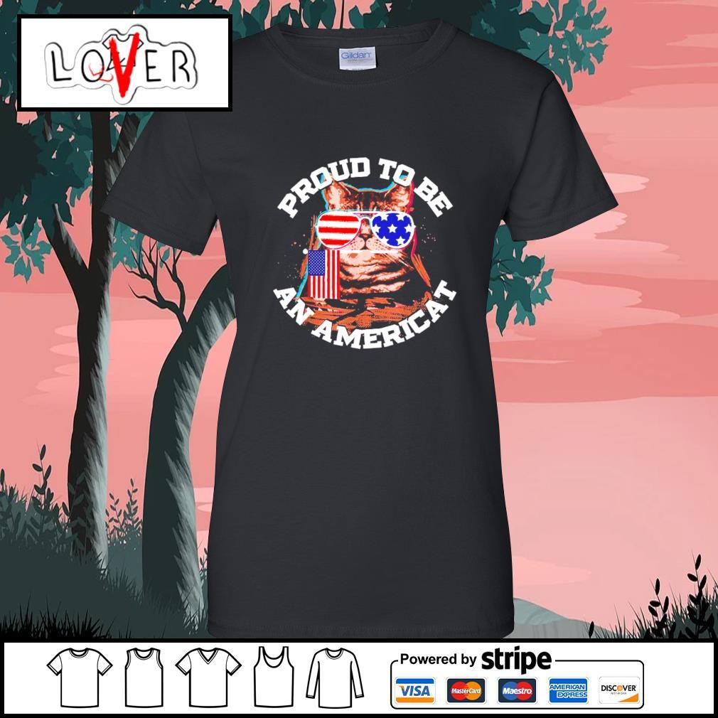 Proud to be an Americat s Ladies-Tee