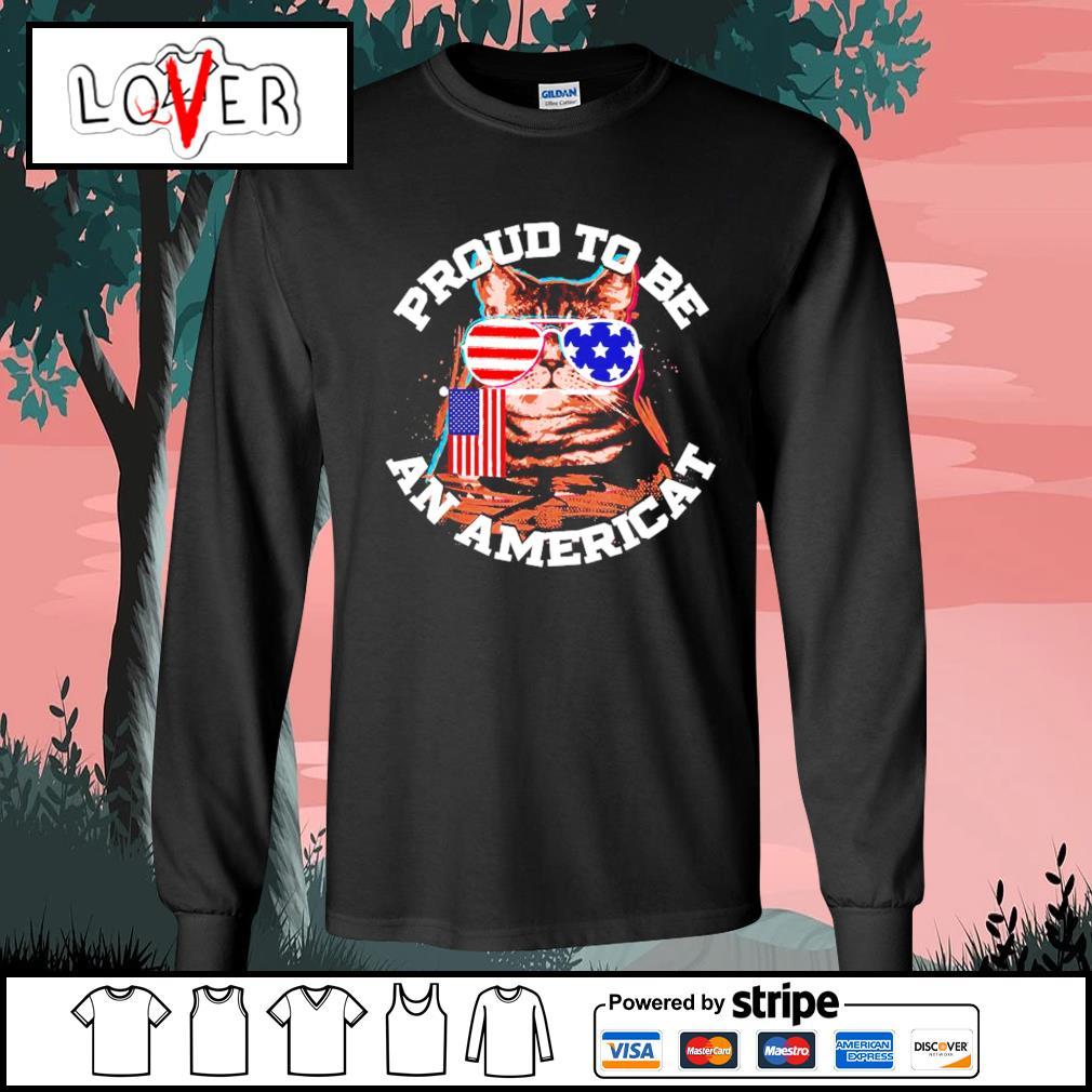 Proud to be an Americat s Long-Sleeves-Tee