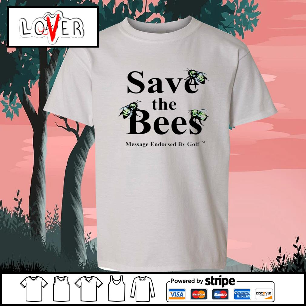 Save the Bees message endorsed by golf s Kid-T-shirt