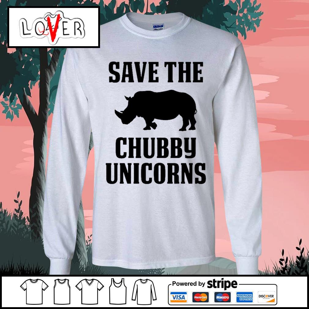 Save the Chubby Unicorns s Long-Sleeves-Tee