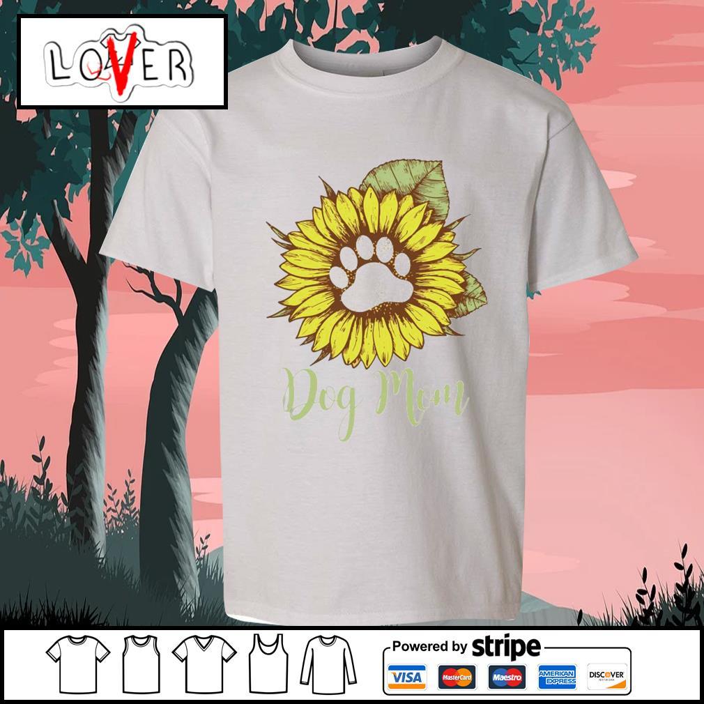 Sunflower paw dog mom s Kid-T-shirt