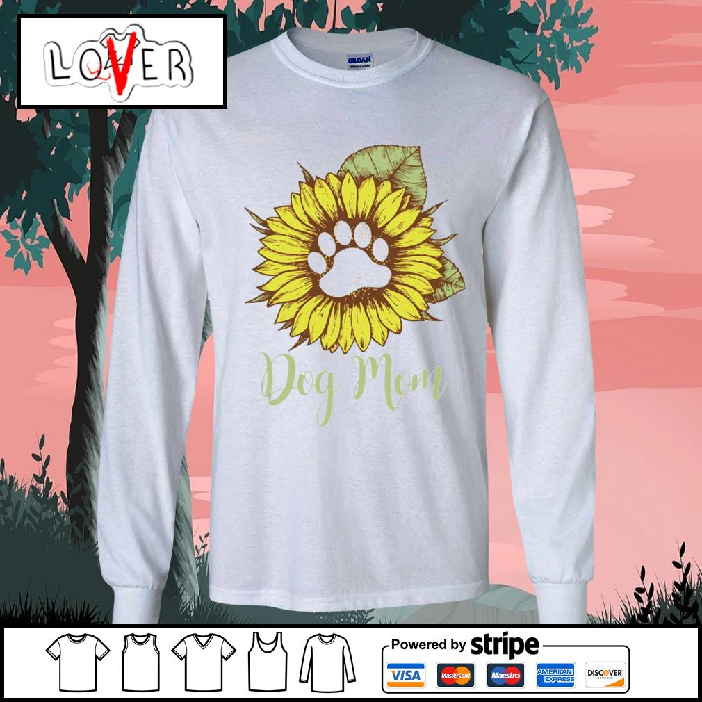 Sunflower paw dog mom s Long-Sleeves-Tee