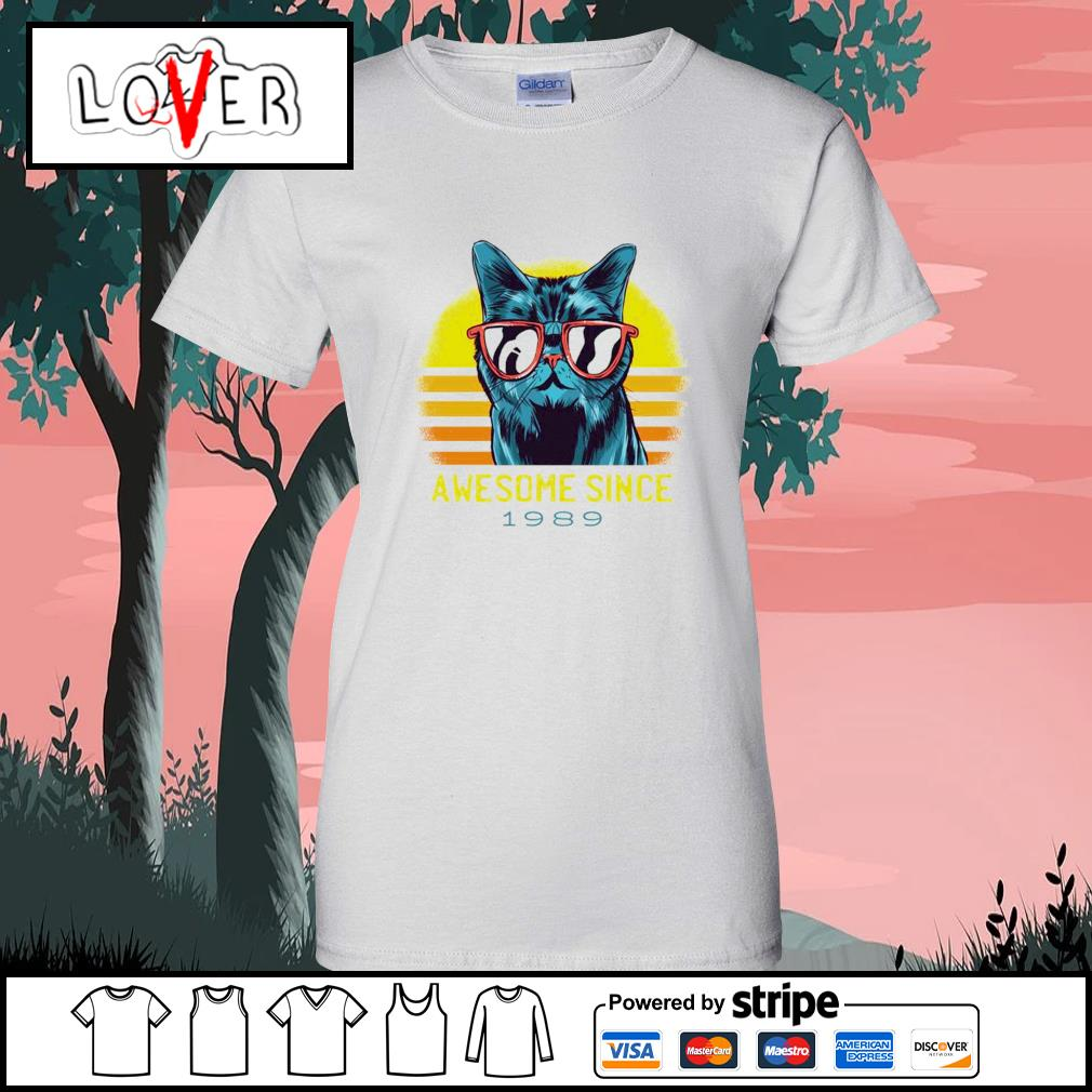 Vintage cats awesome since 1989 s Ladies-Tee