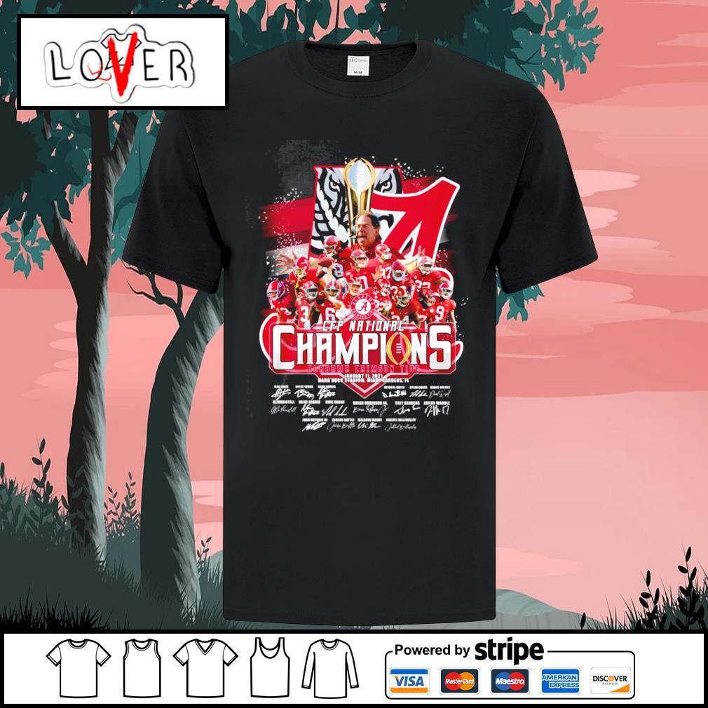 2020 CFP national champions Alabama Crimson Tide January 11 2021 hard rock stadium Miami Gardens shirt