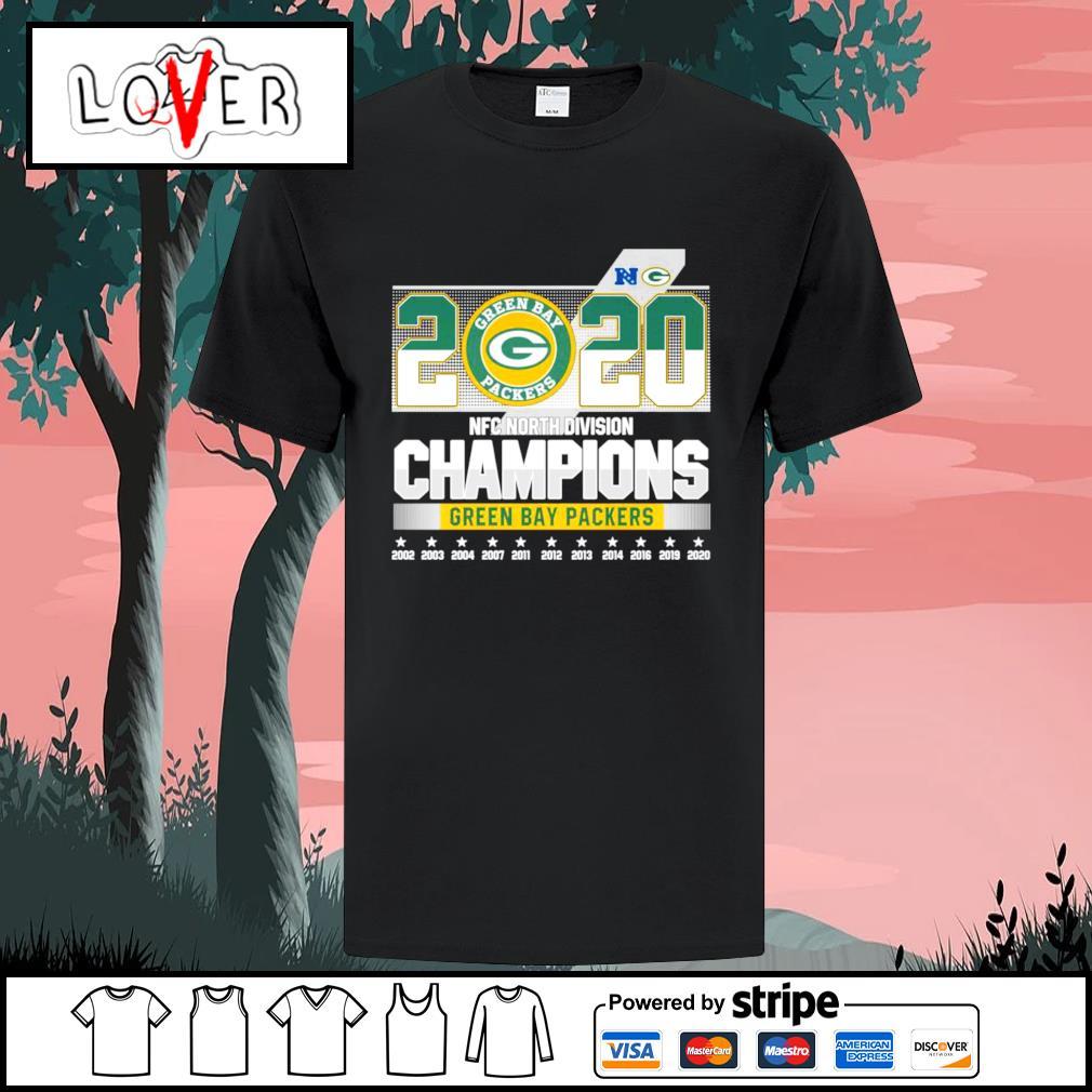 2020 NFC north divisional champions Green Bay Packers shirt