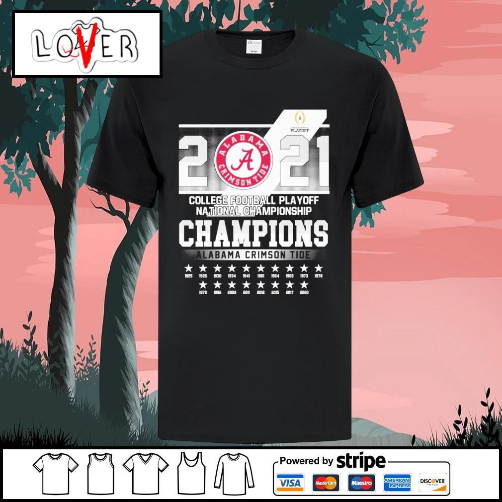 2021 college football playoff national championships Alabama Crimson Tide shirt
