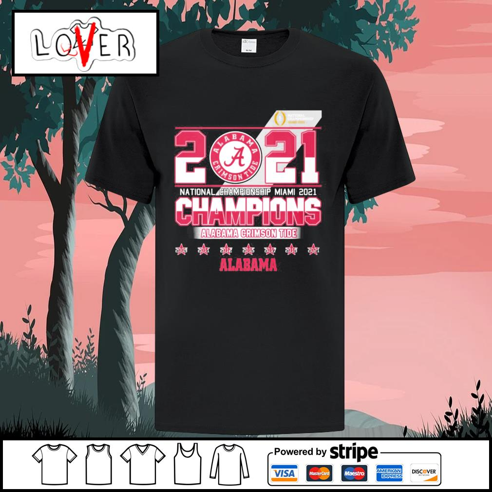 2021 national championship Miami 2021 champions Alabama Crimson Tide shirt