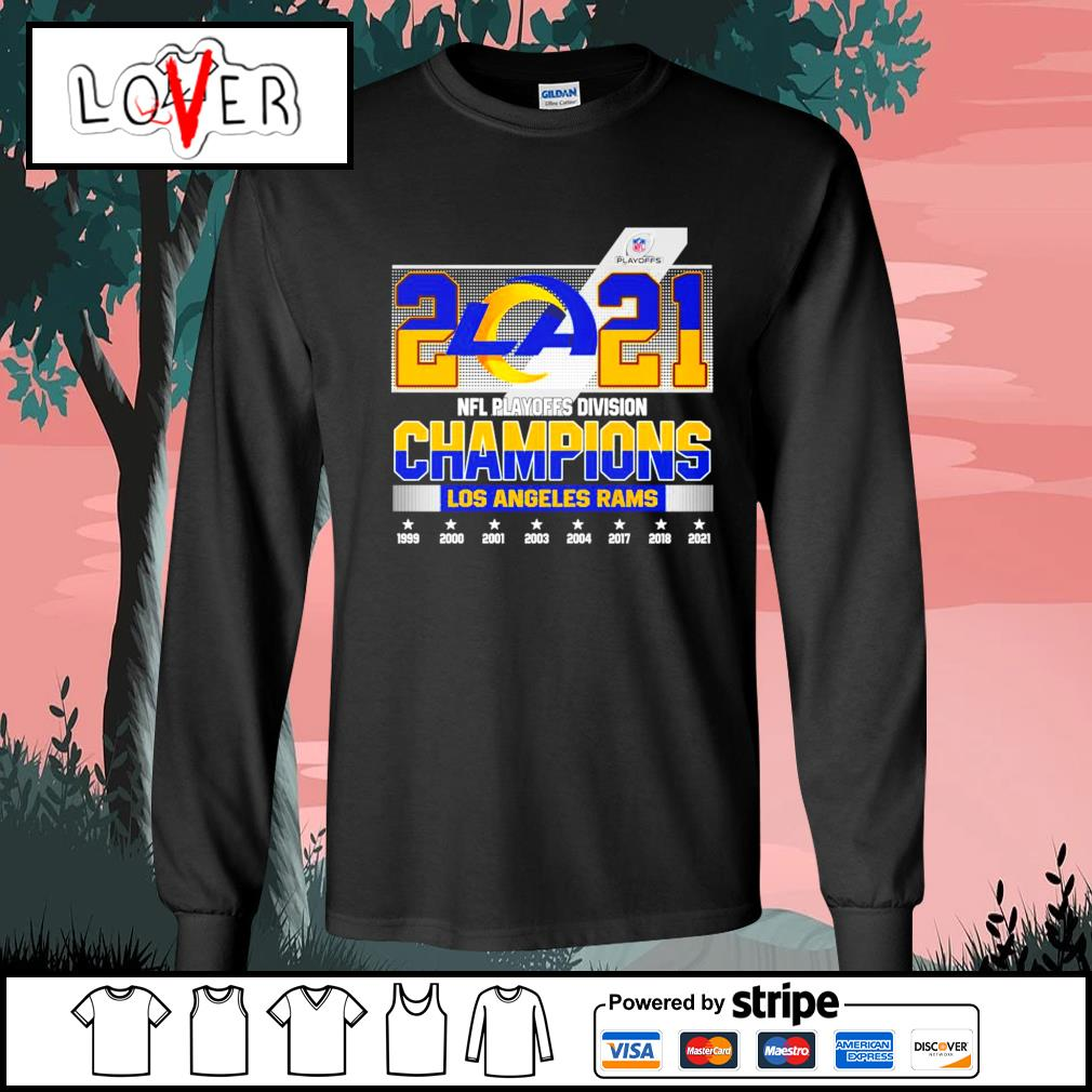 2021 NFL playoffs division champions Los Angeles Rams s Long-Sleeves-Tee