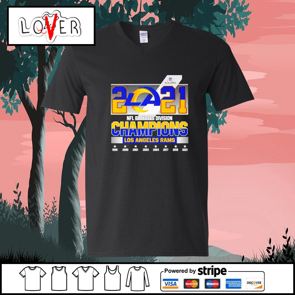 2021 NFL playoffs division champions Los Angeles Rams s V-neck-T-shirt