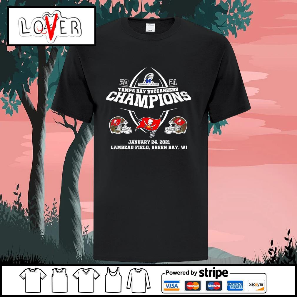 2021 Tampa Bay Buccaneers champions Lambeau field Green Bay shirt
