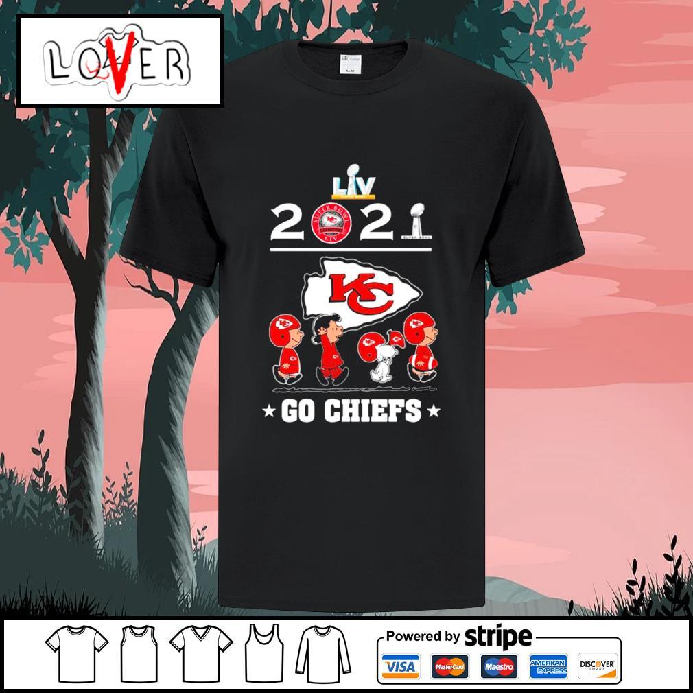 2021 The Peanuts movie characters abbey road go Kansas City Chiefs shirt