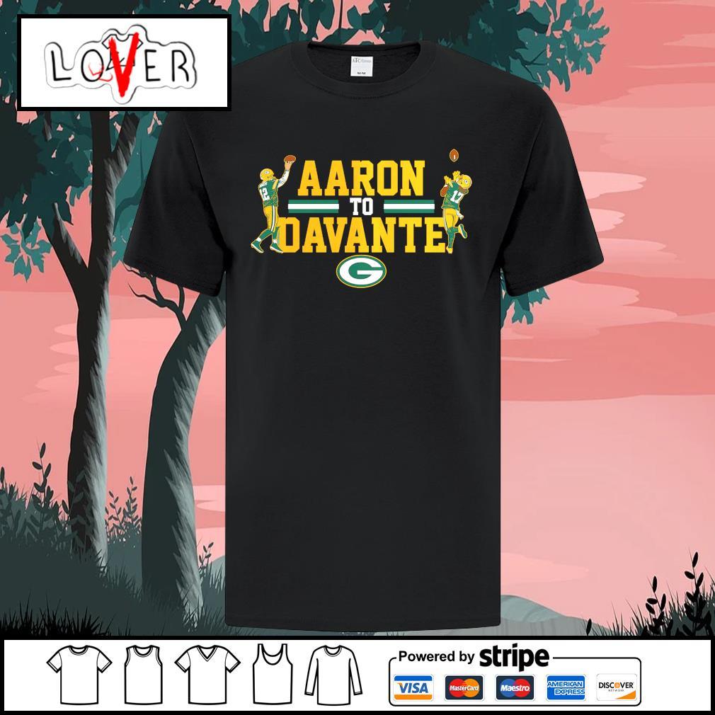 Aaron Rodgers to Davante Adams Green Bay Packers shirt