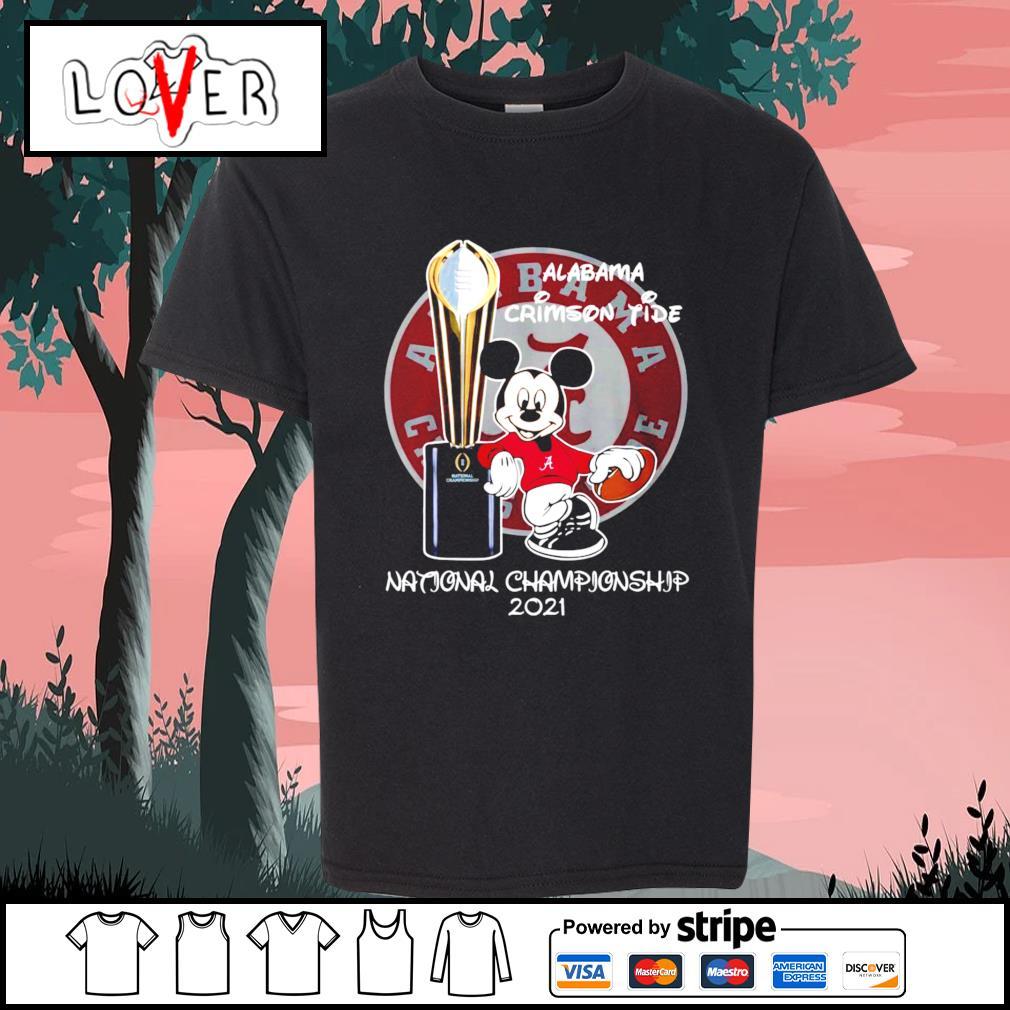 Alabama Crimson Tide Mickey Mouse NCAA national championship 2021 s Kid-T-shirt