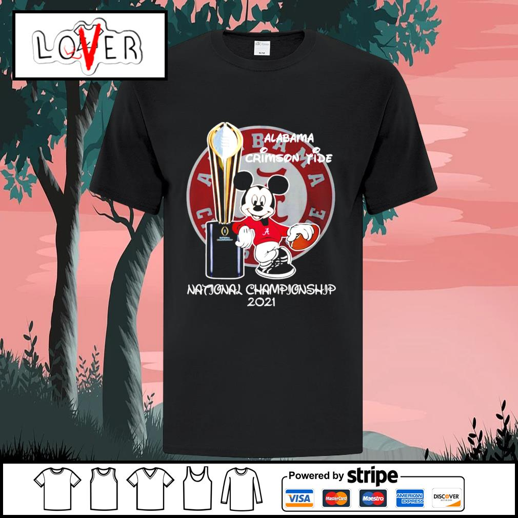 Alabama Crimson Tide Mickey Mouse NCAA national championship 2021 shirt
