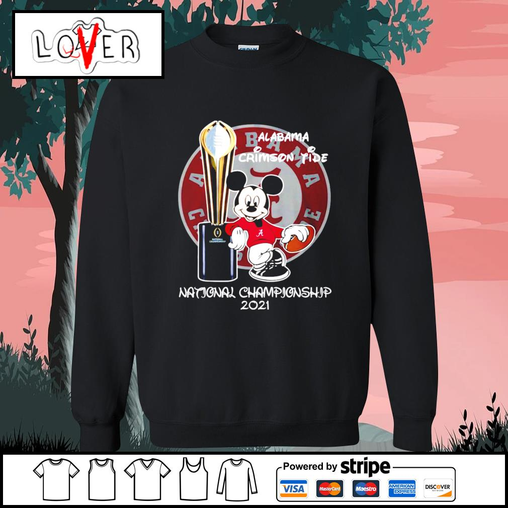 Alabama Crimson Tide Mickey Mouse NCAA national championship 2021 s Sweater