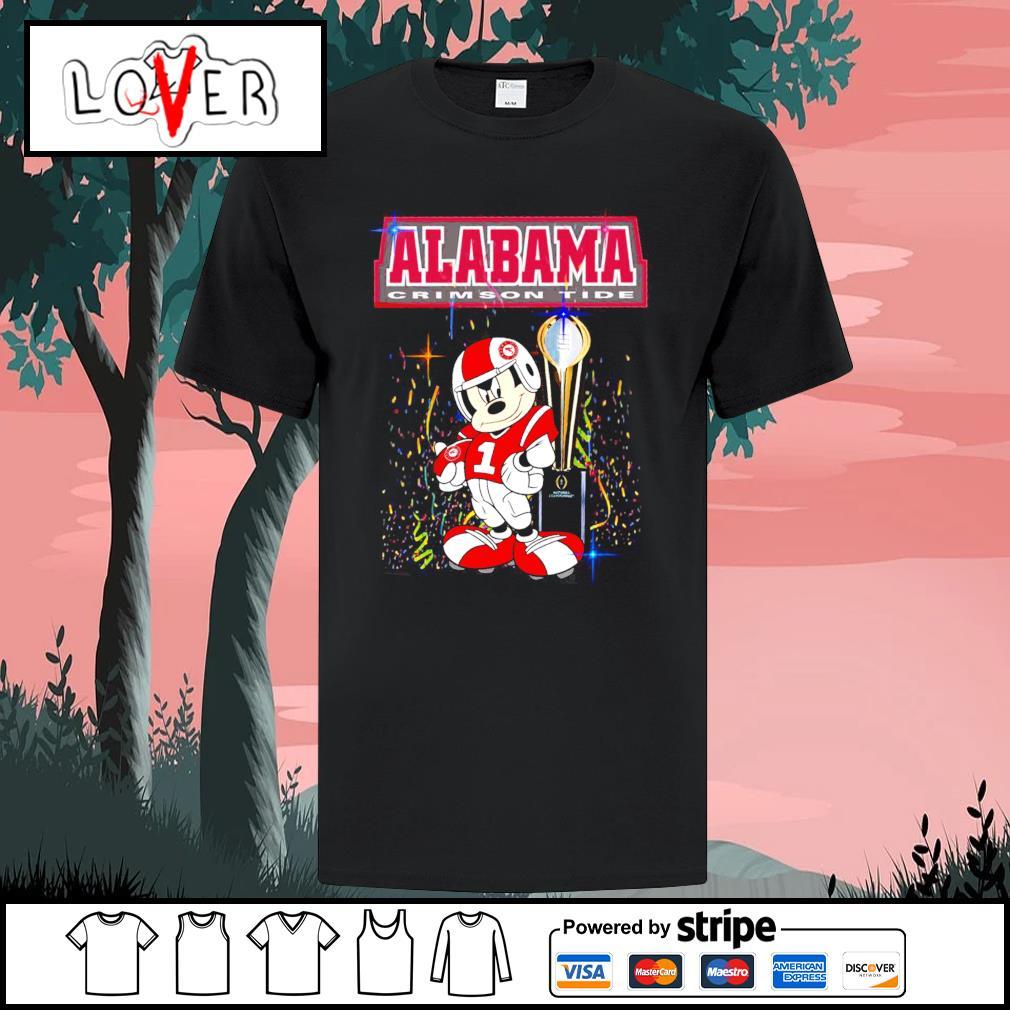 Alabama Crimson Tide Mickey Mouse NCAA national championship shirt