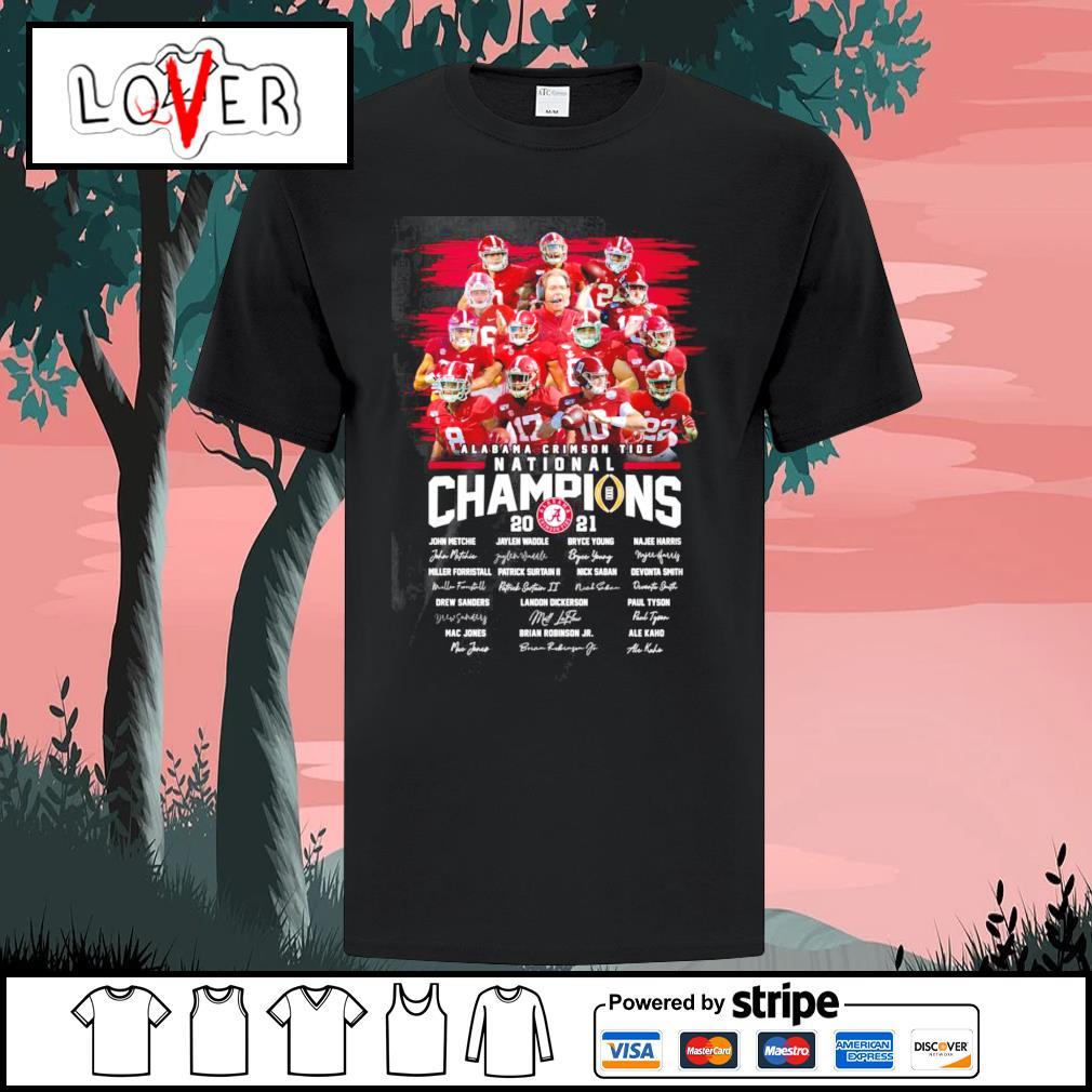 Alabama Crimson Tide national champions 2021 signatures shirt